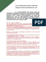 QUESTÕES OBJETIVAS DE DIREITO TRIBUTÁRIO