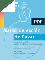 Marco de acción Dakar. Educación para Todos