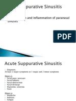 15 - Acute Suppurative Sinusitis & Chronic Sinusitis