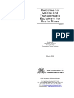 MDG-15 Guideline for Mobile and Transportable Equipment for Use in Mines