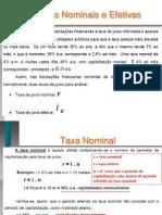 Exercicios Taxs Nominal Efetiva Equivalente 02-12-2013