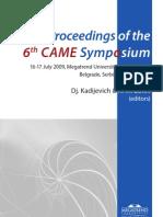 CAME 2009 Proceedings