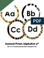 Animal Print 4 Inch Alphabet