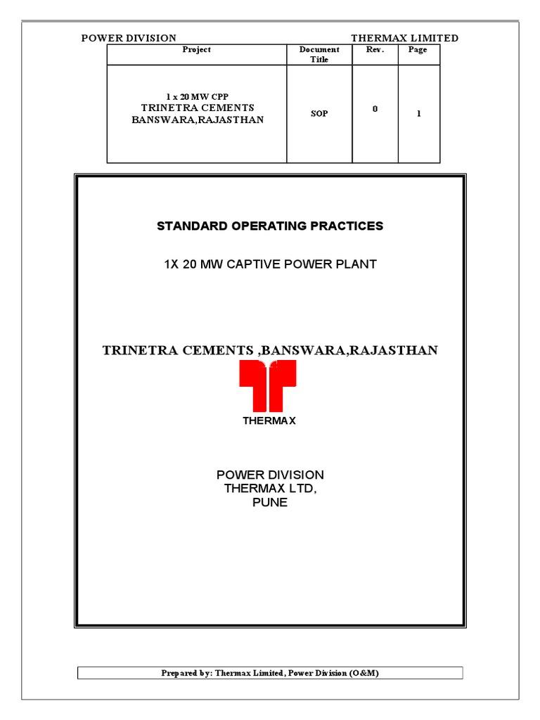 Thermax Boiler Wiring Diagram Schematics Standard Operation Procedure Valve Star