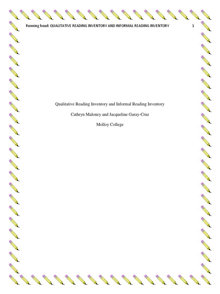 graphic regarding Printable Informal Reading Inventory named edu506 reading through strategy last replica Reading through Understanding