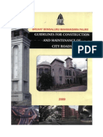 Guidelines for Construction and Maintenance of City Roads