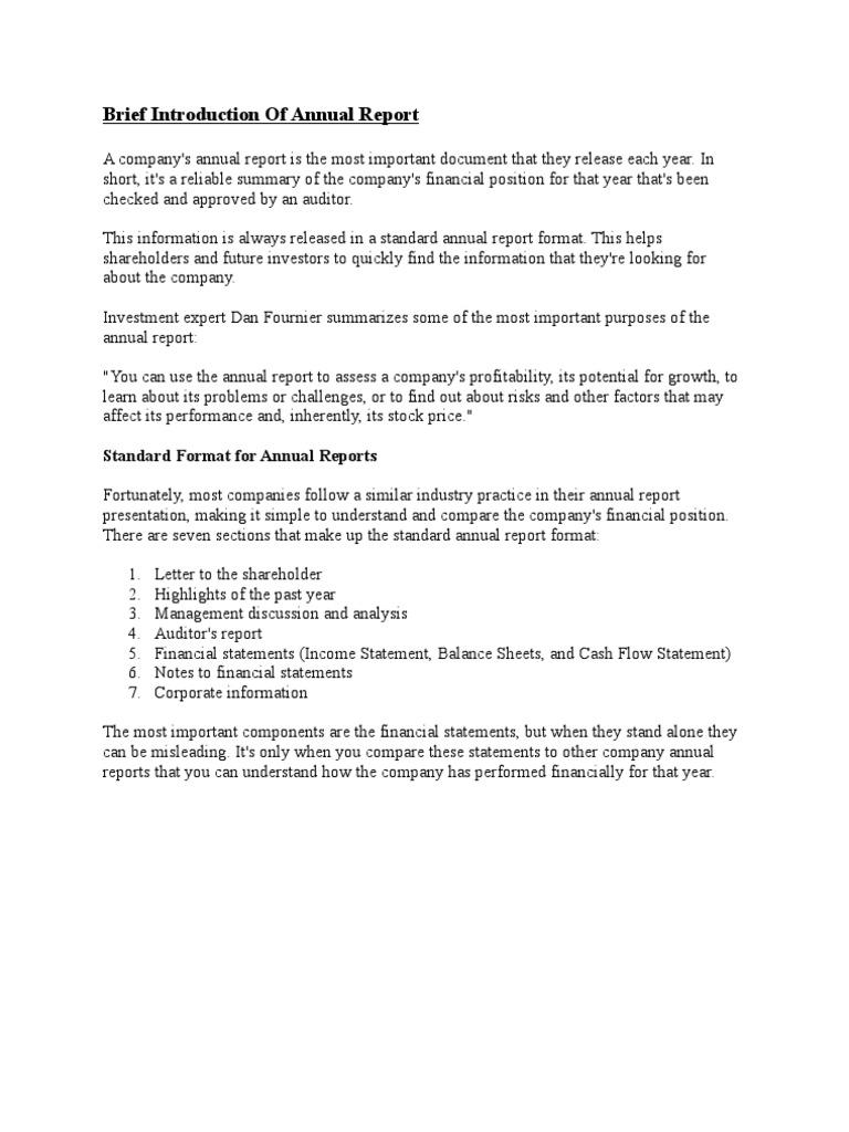 Annual Report Sample Full Financial Statement Business 1520444266?vu003d1 Annual  Report Sample Full  Annual Report Analysis Sample