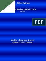 00ESS_Essentials (Siebel 7.7) Training