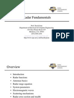 Radar Fundamentals Power Point Presentation | Radar