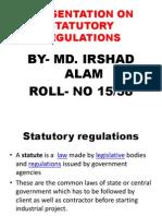 Statutory regulation