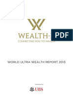 Wealth-X and UBS World Ultra Wealth Report 2013