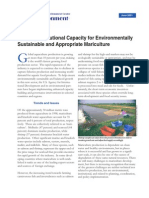 Building Institutional Capacity for Environmentally Sustainable and Appropriate Mariculture