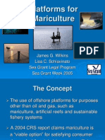 Platforms for Mariculture