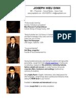 Joseph Hieu Dinh - MC host, Presenter, Social Media, Voice Over, Entertainment Consultant