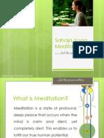 Sahaja Yoga Meditation Presentation