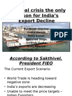 Is Global crisis the only reason for India's export