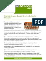 Crowdfunding per società sportive culturali e ricreative
