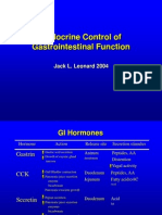 Endocrine Control of GI Function