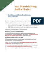 Mengatasi Masalah Hang Mozilla