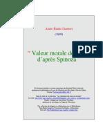 Valeur Morale Joie Spinoza