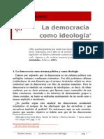 La Democracia Como Ideologia