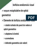 8 Biofizica Analizorului Vizual MG Pp