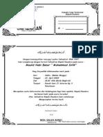 Contoh Undangan Peringatan Maulid Nabi Muhammad SAW