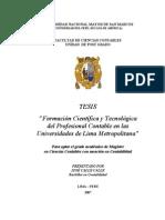 Formacion Cientifica y Tecnologica Del Contador