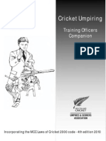 Cricket Umpiring - Training Officers Companion L3 (A4b)