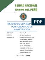 MÉTODO DE DEPRECIACIÓN POR FONDO FIJO DE AMORTIZACIÓN definitivo