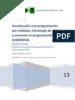 1 Aprender Programacion Modular Estrategia Divide y Venceras