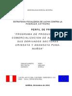 PROGRAMA DE PRODUCCION Y COMERCIALIZACION DE ALPACA NUÑOA