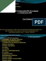 Presentación N°4 PSU De Lenguaje y Comunicación - Los Generos Literarios