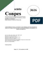 CONPES 3616 generación de ingresos para la PD