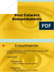 Post Cataract Endophthalmitis