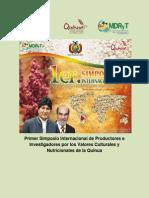 Programa Del i Simposio Internacional de Productores e Investigadores Por Los Valores Culturales y Nutricionales de La Quinua - Oruro, Bolivia