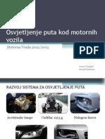 Osvjetljenje Puta Kod Motornih Vozila - Prezentacija