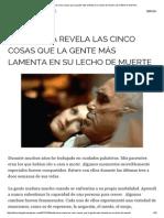 Enfermera revela las cinco cosas que la gente más lamenta en su lecho de muerte _ EL FENICIO DIGITAL