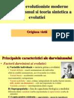 Conceptii Evolutioniste Moderne