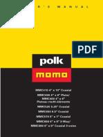 Polk MOMO MMC 650 speaker manual