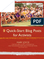 9 Quick-Start Blog Posts for Activists