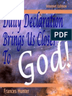 A Daily Declaration Brings Us Closer to God