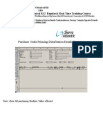 Purchase Order Princing Distribution Details Report