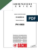 Manual de Instrucciones Prensa PH4900
