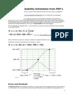 Probablity Estimation Theory