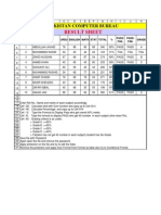 Exercises of Excel for Student