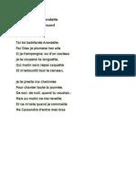 Odelette ŕ l'Arondelle-de Pierre de Ronsard