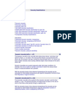 Viscosity Classifications