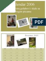 Kalendar 2006 Vicko i Petra, Golubovi i Skale Sa Drugim Pticama