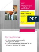 Las Inteligencias múltiples¨. Mtro. José Jaime Botello Valle.